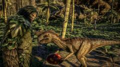 Oviraptor - Giving egg