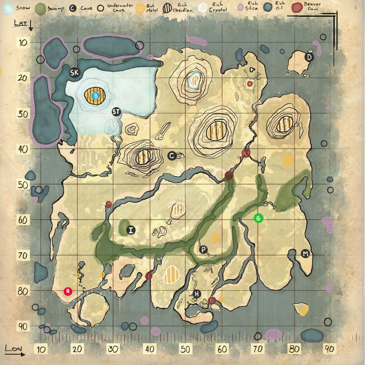 Useful Maps General Discussion Ark Official Community Forums It is said that a palace of pearls lies at the bottom of the ocean. useful maps general discussion ark