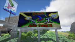 Warning sign. Turrets