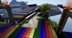 Ark Survival Evolved Rainbow Road Dino Race Track in the Sky