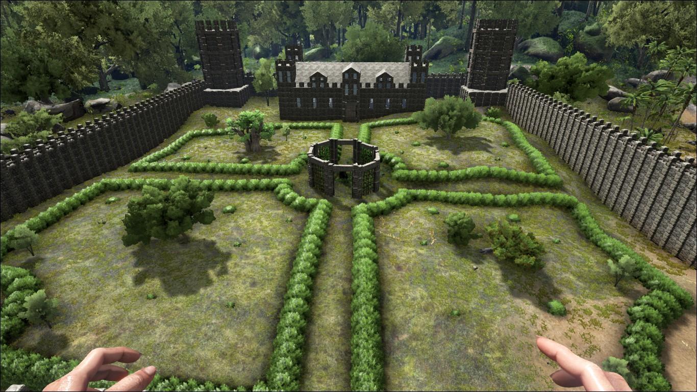 Castle Courtyard by NUKE1985