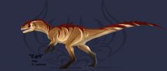 My OC allosaur Earl by Kamunyak's Artwork