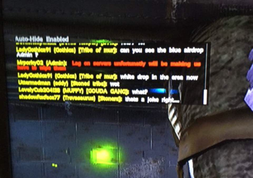 Supposed Admin Ingame Talking About Server Wipe - General