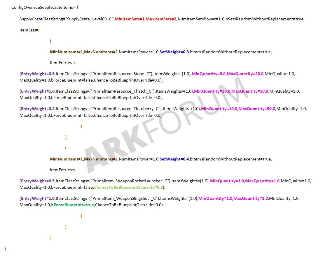 TUTORIAL+] Modify loot crate contents [v242] - Server