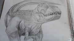 Vastatosaurus Rex by Meiolania