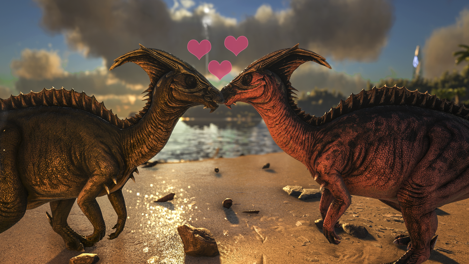 Valentine S Day Parasaurs Official Media Ark Official Community Forums Parasaurolophus amphibio, known as parasaur on the island, are docile plant eating dinosaurs. valentine s day parasaurs official