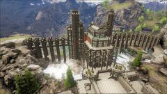 Ark epic castle, waterfall base, waterfall castle.jpg