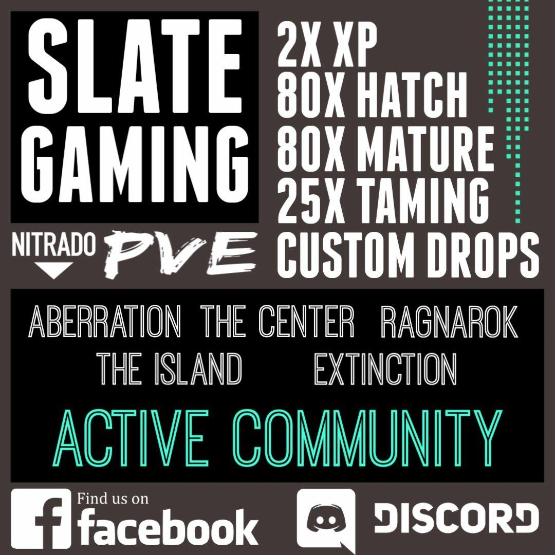 Slate Gaming PVE Cluster | 5 Maps - Dedicated Server