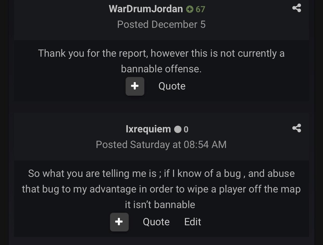 Wardrum does nothing about exploiting  - General - ARK
