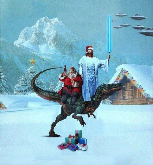 santa raptor jesus