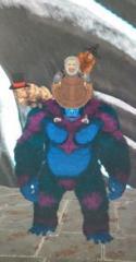 Make monkeys hold mele weapons like mantis