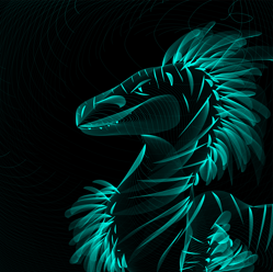 Feathered Raptor Neon